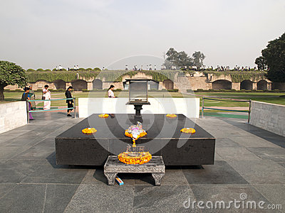 Raj Ghat - Mahatma Gandhi Crematorium Site. Editorial Photo