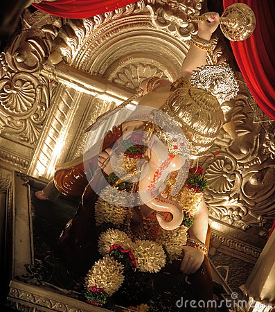 Rajaram mitra mandal ganapati Stock Photo