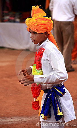 Rajasthani dancer boy Editorial Photo