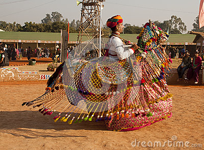 A rajasthani folk atris performing Editorial Photo