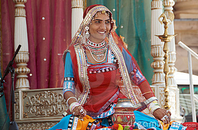 Rajasthani Folk Dancer Editorial Photography