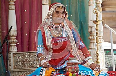 Rajasthani Folk Dancer Editorial Photography