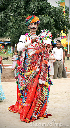 Rajasthani folk dancer Editorial Stock Photo