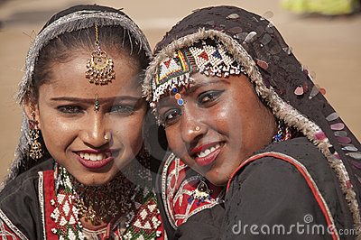Rajasthani Gypsy Dancers Editorial Photo
