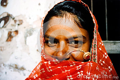 Rajasthani woman - India Editorial Photo