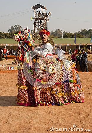 Rajathani folk artist Editorial Photography