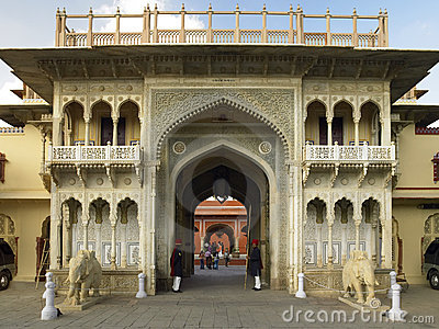 Rajendra Pol gateway - Jaipur - India Editorial Stock Photo