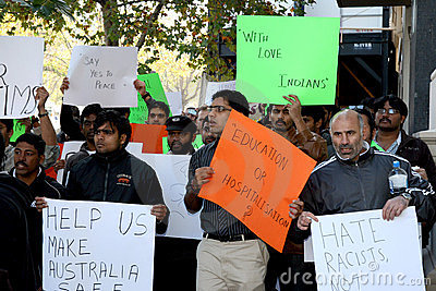 Rally against racism in Australia Editorial Image