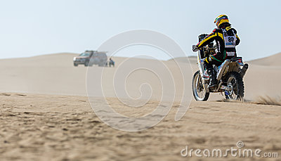 Rally Bike races Dakar 2013 Editorial Photography