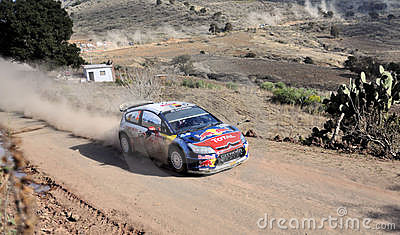 Rally car Editorial Stock Image