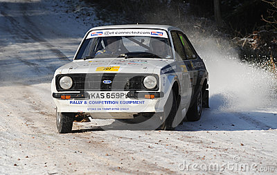 Rally Car Editorial Photo