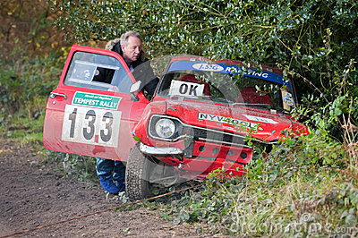 Rally car crash Editorial Image
