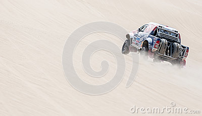 Rally car in the desert Editorial Stock Photo