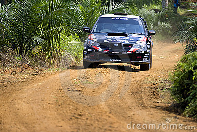 Rally car racing on track Editorial Stock Photo