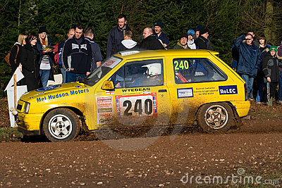 Rally car on stage Editorial Image