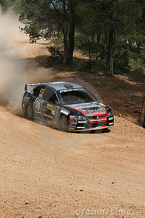 Rally car at WRC Rally Acropolis Editorial Stock Photo