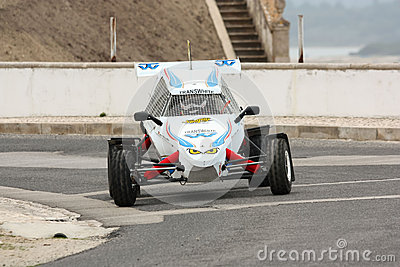 Rally Cross Prototype during Rally Sprint Editorial Stock Photo