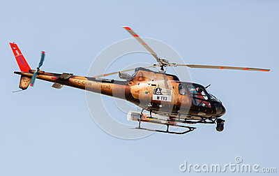 Rally Dakar 2013 Helicopter Editorial Image