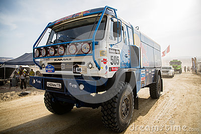 Rally Dakar 2013 Truck Editorial Photography