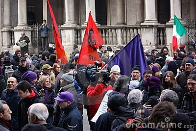 Rally in defence of the Italian Constitution, Mila Editorial Photography