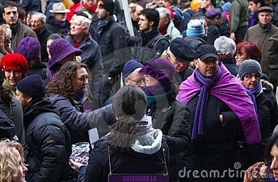 Rally in defence of the Italian Constitution, Mila Editorial Stock Image