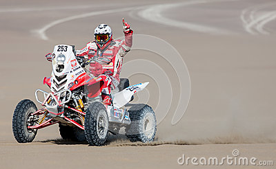 Rally driver Dakar 2013 Editorial Image