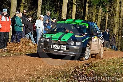 Rally driving Editorial Stock Photo
