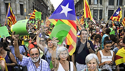 Rally for the independence of Catalonia Editorial Image