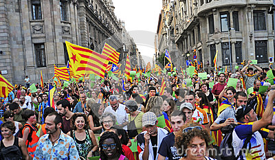 Rally for the independence of Catalonia Editorial Photo