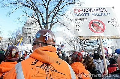 Rally in Madison Wisconsin Editorial Stock Photo