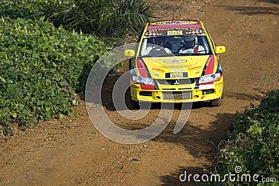 Rally motorcar racing Editorial Stock Image
