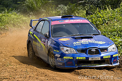 Rally motorcar racing Editorial Photo