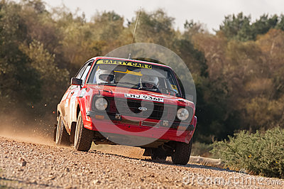Rally safety car Editorial Image