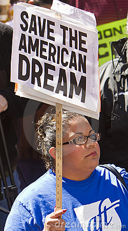 Rally To Save The American Dream Editorial Stock Photo