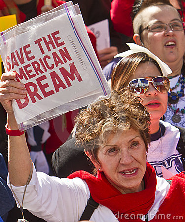Rally To Save The American Dream Editorial Photo