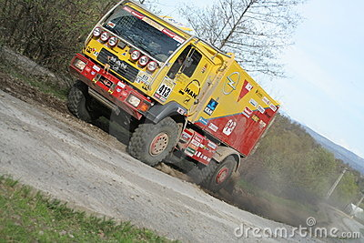 Rally truck Editorial Stock Image