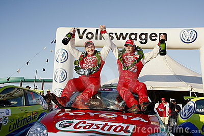 Rally winners Editorial Stock Image