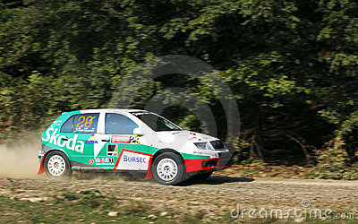 Rallye Car Editorial Stock Photo