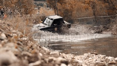 Rallye Jeeping Competition in der russischen Stadt Kislovodsk 09 28 2019 stock video footage