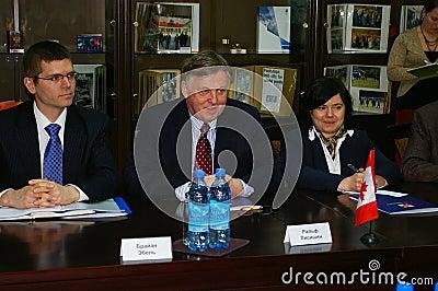 Ralph J. Lysyshyn in Sotchi, Rusland Redactionele Fotografie