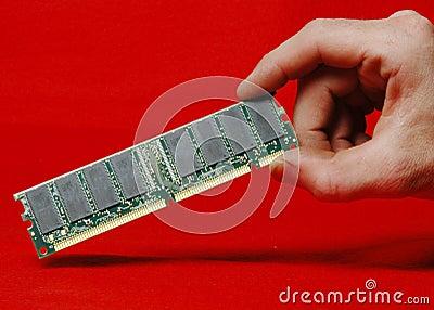 Ram dimm in hand
