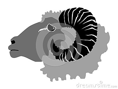Ram, domestic animal Cartoon Illustration