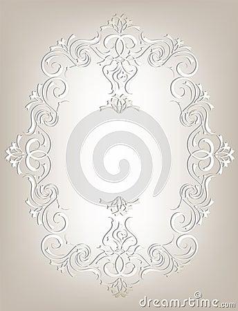 Rama w sztuki Nouveau stylu