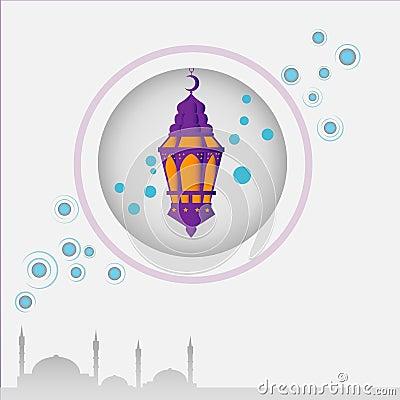 ramadan card design Stock Photo