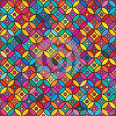 Free Ramadan Circle Colorful Seamless Pattern Royalty Free Stock Photo - 71369295