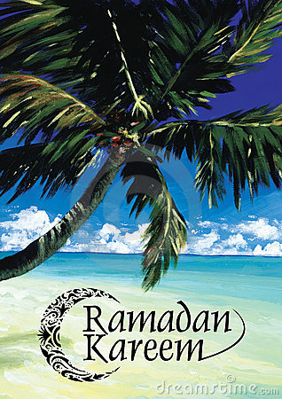 Ramadan Kareem with Dates & Sea