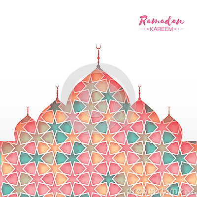 Free Ramadan Kareem. Pink Ornamental Arabic Pattern With Mosque In Paper Cut Style. Arabesque Pattern. Royalty Free Stock Image - 93256996