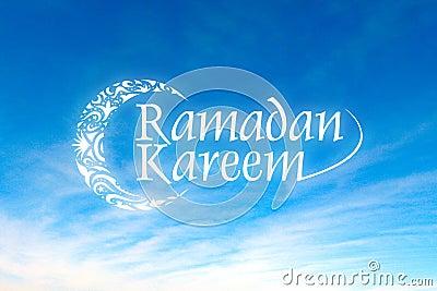 Ramadan Kareem with sky background
