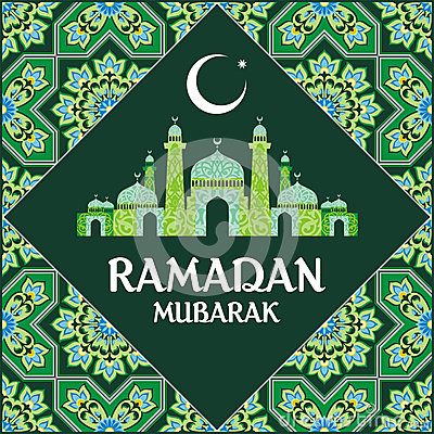 Ramadan mubarak card Vector Illustration