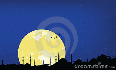 Ramadan night Cartoon Illustration